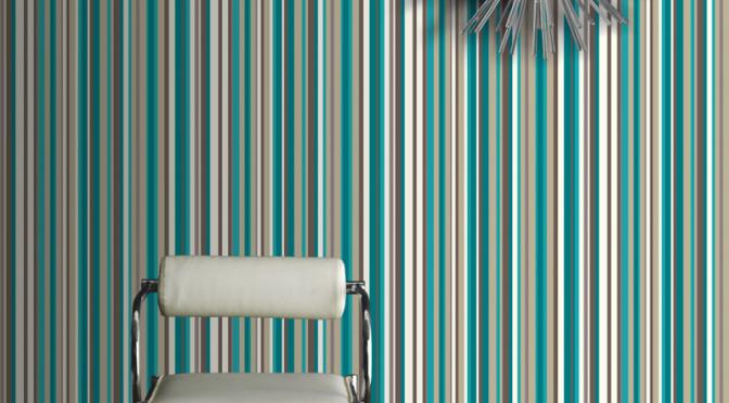 Arthouse Sophia Stripe Wallpaper in Teal