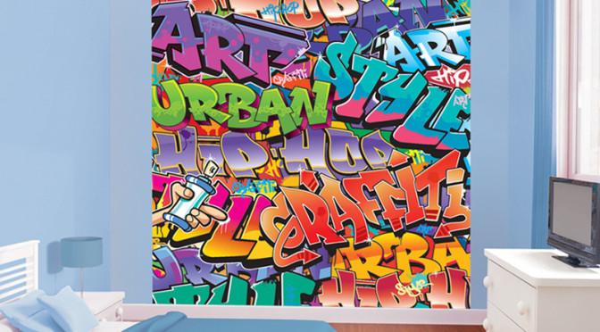Walltastic Graffiti Wallpaper Mural