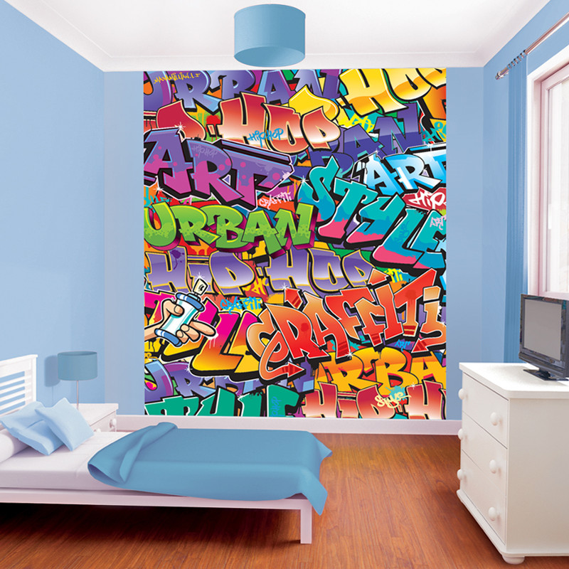 Walltastic Graffiti Wallpaper Mural