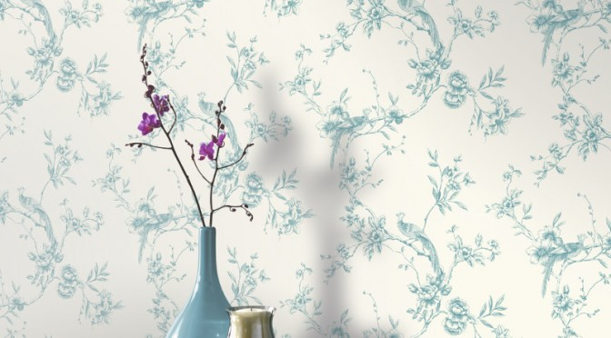 Arthouse Chinoise Wallpaper in Teal