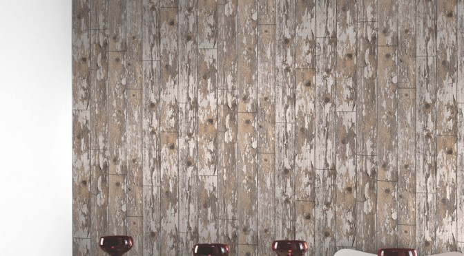 Arthouse Cabin Distressed Wood Wallpaper