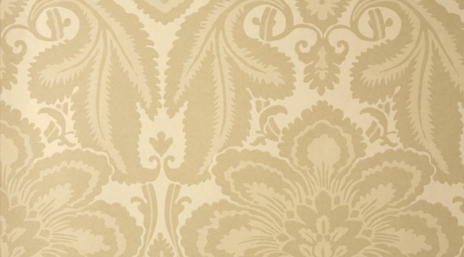 Little Greene Albemarle St Wallpaper- Putty