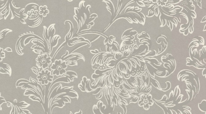 Little Greene North End Road Wallpaper – Warm Silver