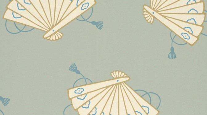 Little Greene Oriental Wallpaper – Shojo Aquamarine