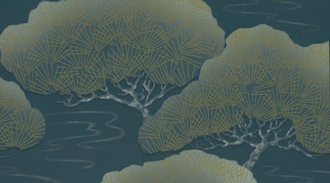 Little Greene Oriental Wallpaper – Blue Pines