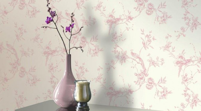 Arthouse Chinoise Wallpaper – Pink
