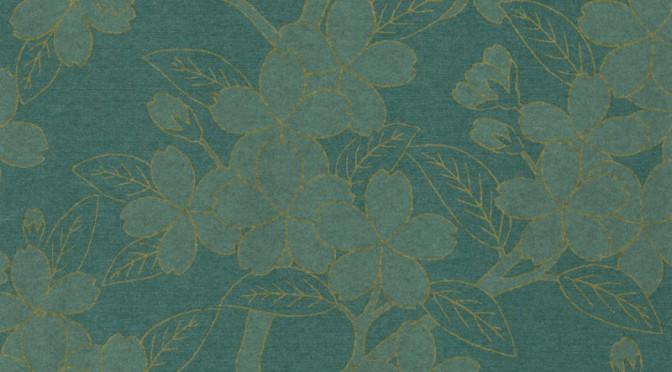 Little Greene Oriental Wallpaper – Camillia in Teal