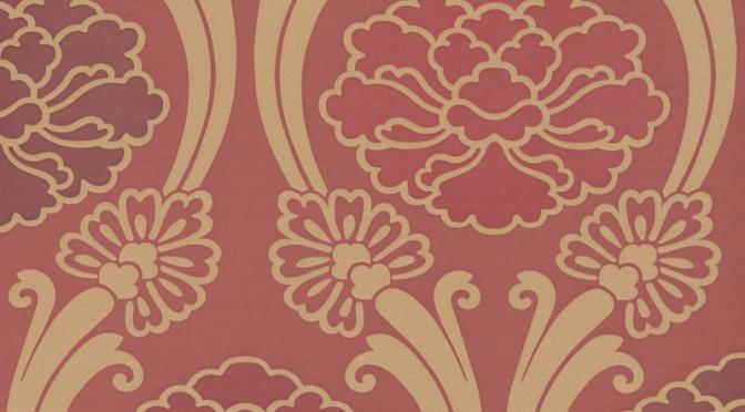 Little Greene Oriental Wallpaper – Peony in Cherry