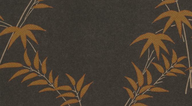 Little Greene Oriental Wallpaper – Trellis Bamboo in Copper