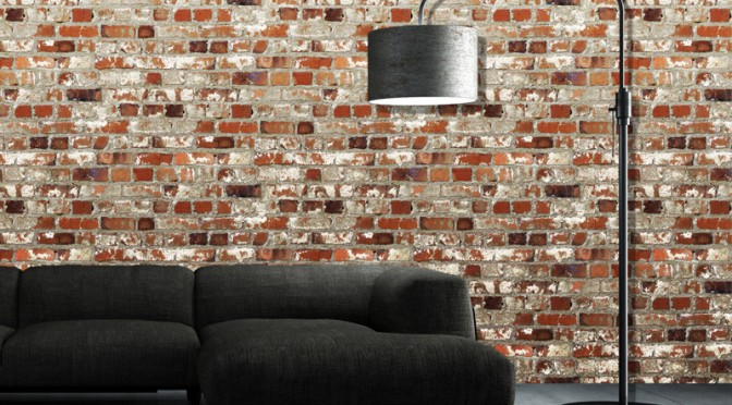 Muriva Loft Brick Wallpaper