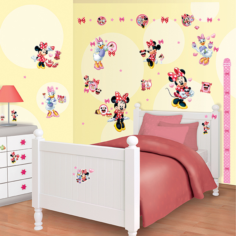 walltastic disney minnie mouse room decor kit