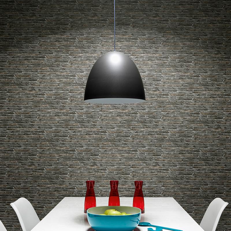 erismann authentic brick wallpaper grey