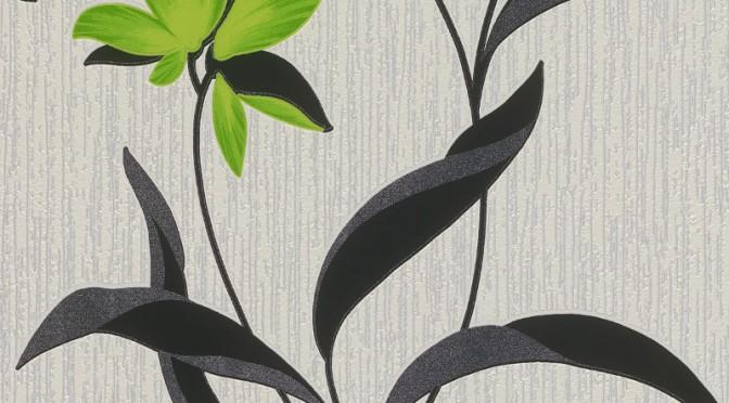 Erismann Fleur Glitter Wallpaper – Green and Black