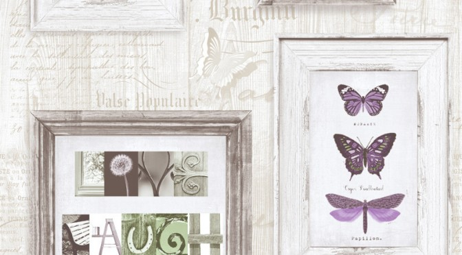 Muriva Live Laugh Love Wallpaper – Purple