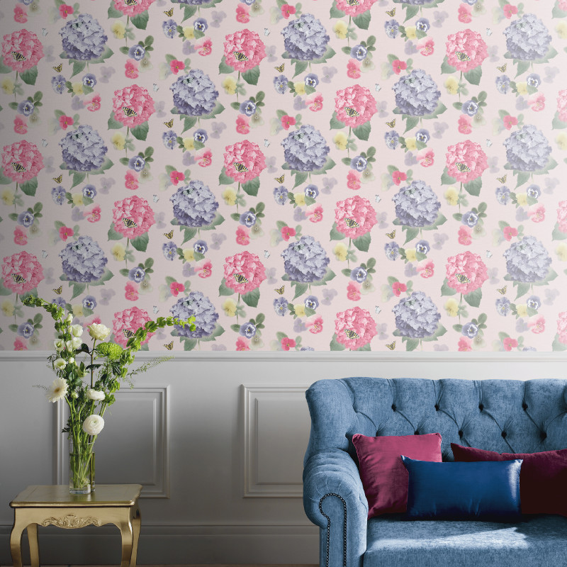 Arthouse annabelle flower motif wallpaper1