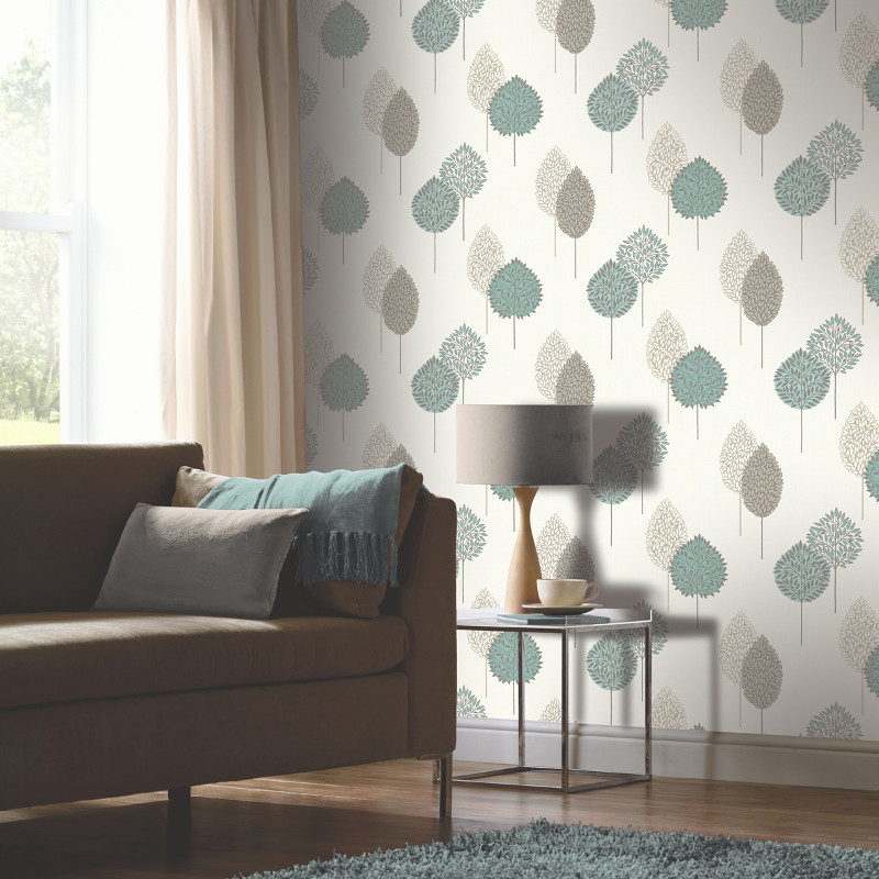 Arthouse dante motif wallpaper teal for Teal kitchen wallpaper
