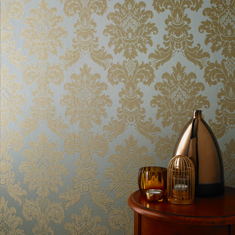 Arthouse Messina Damask Wallpaper Gold