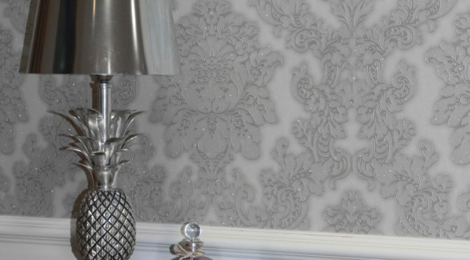 Grey wallpaper archives go decorating for Grey silver wallpaper living room