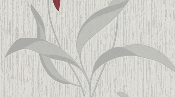 Erismann Fleur Glitter Wallpaper – Red & Silver