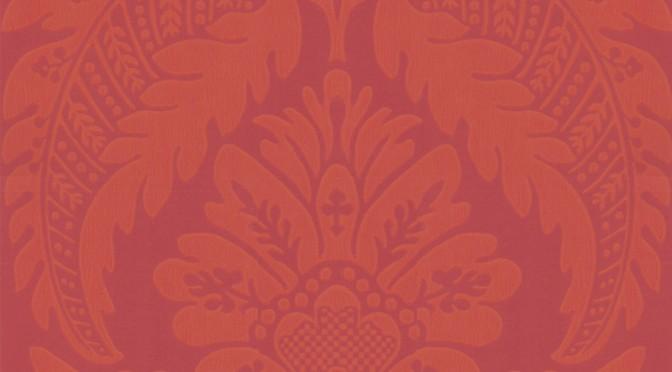 Little Greene Wilton Wallpaper – Library Red