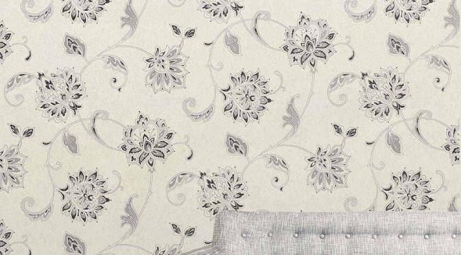Vymura Vintique Trail Glitter Wallpaper – Grey & White