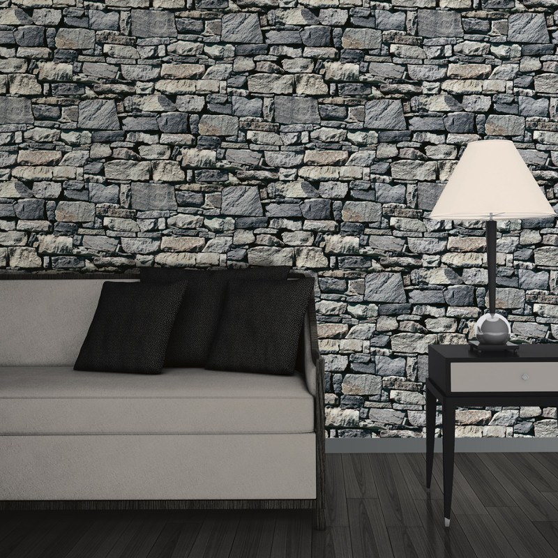 Muriva Dry Stone Wall 3d Effect Wallpaper