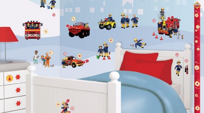 Walltastic Fireman Sam Room Decor Kit