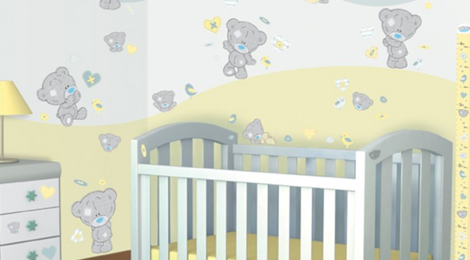 Walltastic Tiny Tatty Teddy Room Decor Kit