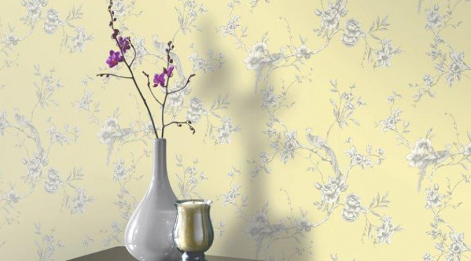 Arthouse Chinoise Wallpaper – Yellow