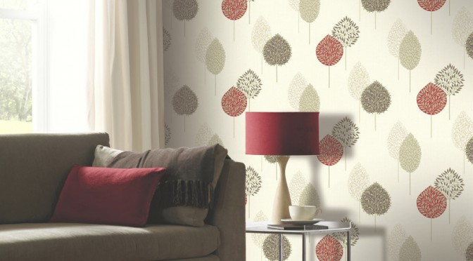 Arthouse Dante Motif Wallpaper – Red
