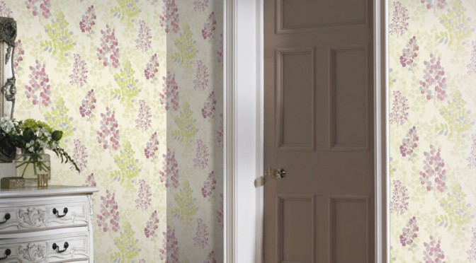 Arthouse Montana Floral Leaf Wallpaper – Magenta and Green