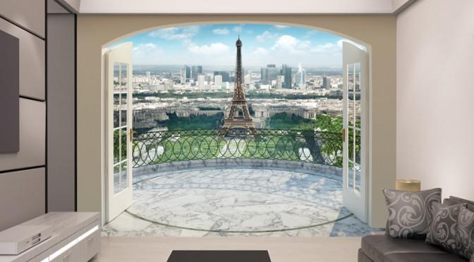 Walltastic Eiffel Tower In Paris Wallpaper Mural