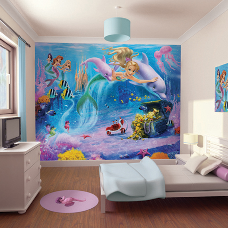 Walltastic mermaids wallpaper mural for Childrens mural wallpaper