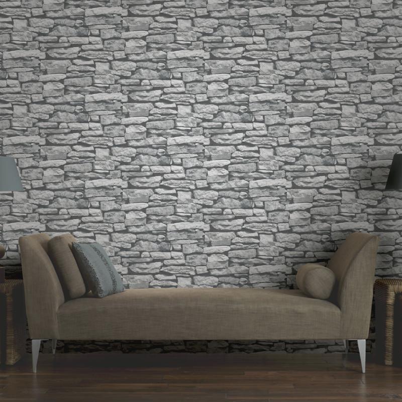 Arthouse Moroccan Stone Wallpaper White