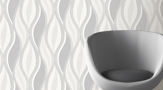 Direct Wallpapers Wave Glitter Wallpaper – Grey