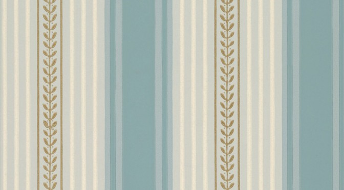 Little Greene Maddox Street Wallpaper – Blue Dusk