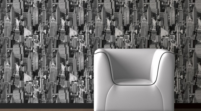 Muriva New York City Black & White Wallpaper
