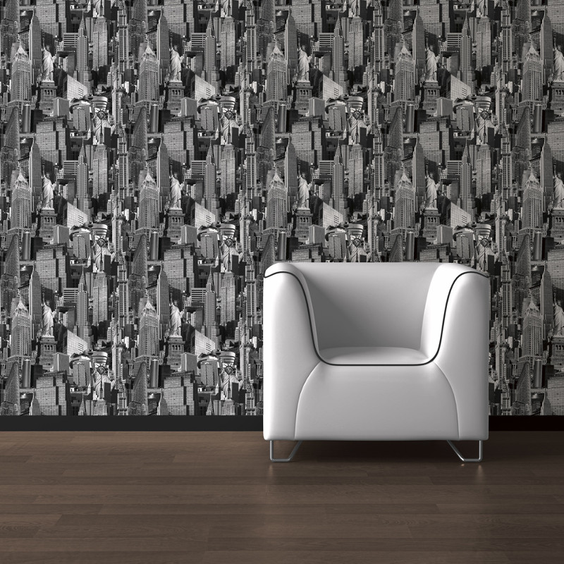 Muriva New York City Black & White Wallpaper