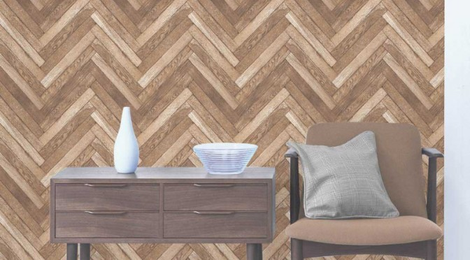 Fine Decor Parquet Wood Wallpaper – Natural Beige