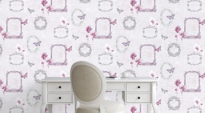 Muriva Valentina Wallpaper in Pink