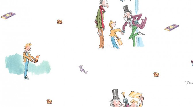 Muriva Roald Dahl Golden Ticket Wallpaper – Multi-Coloured