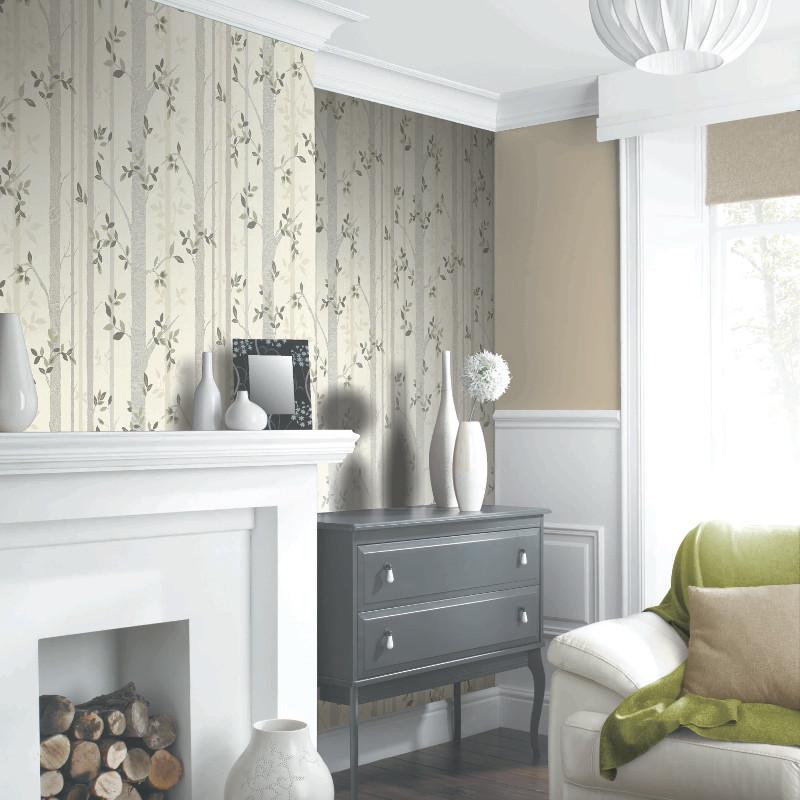 Arthouse birch tree wallpaper neutral - Art house wallpaper uk ...