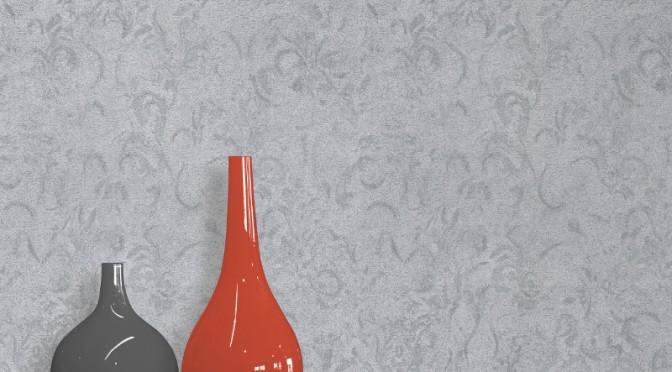 Muriva Victoria Texture Wallpaper – Silver