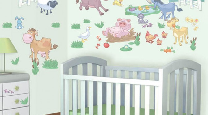 Walltastic Baby Fun on the Farm Room Decor Kit