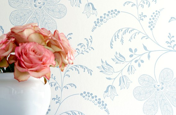 Little Greene Bedford Square Wallpaper – Porcelain