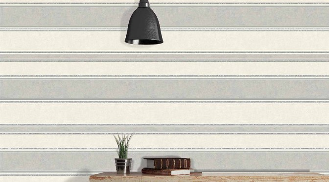 Coloroll Feathers Mallory Stripe Wallpaper – Grey