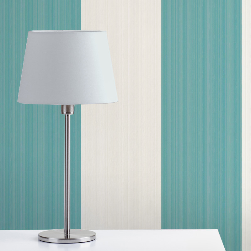 Fine Decor Home Value Wide Stripe Teal White Go