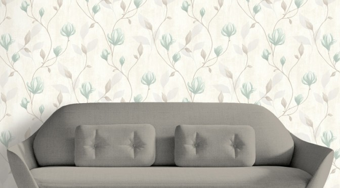 Muriva Darcy Trail Wallpaper in Blue