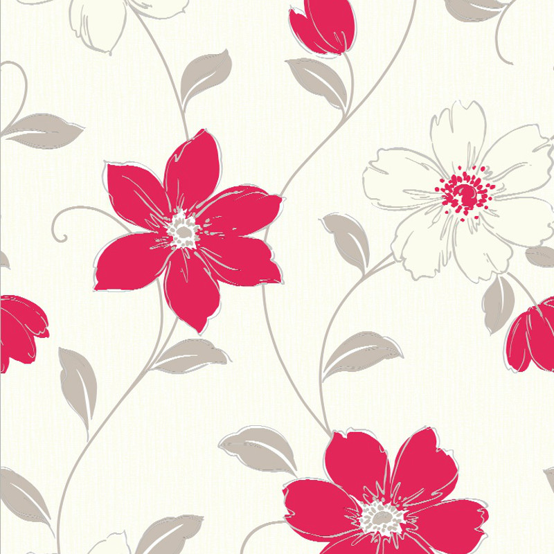 arthouse anouska floral wallpaper red. Black Bedroom Furniture Sets. Home Design Ideas