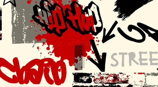graffiti wallpaper red black amp grey by debona